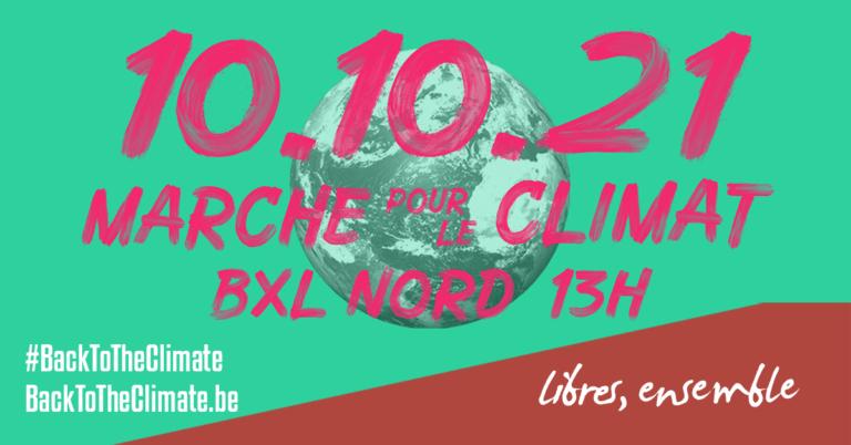 #BackToTheClimate: marche pour le climat à Bruxelles